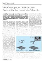 Anforderungen an Drahtvorschub- Systeme für das ... - Laser Magazin