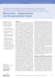 Bioresonanz – diagnostischer und therapeutischer Unsinn - SGAI