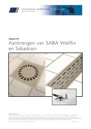 Aanbrengen SABA Wellfix