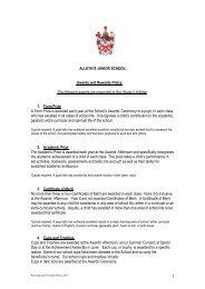 1 ALLEYN'S JUNIOR SCHOOL Awards and Rewards Policy The ...