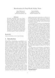 Diacritization for Real-World Arabic Texts - IU Computational ...