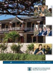 Year 9 Curriculum Book - 2011 - Loreto College
