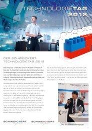 TECHNOLOGIETag 2012 - Schweickert Firmengruppe