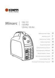 Minarc 150, 151 150 VRD 120 AU, 150 AU - Rapid Welding and ...