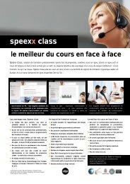 Speexx Class – Le meilleur de deux mondes