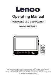 Operating Manual PORTABLE LCD DVD PLAYER - Lenco