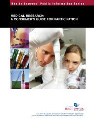 Medical Research: A Consumer's Guide for Participation - American ...