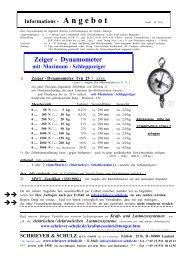 Zeiger - Dynamometer - SCHRIEVER & SCHULZ & Co. GmbH