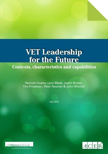 VET Leadership for the Future - LH Martin Institute