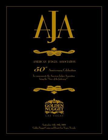 Conference Schedule - American Judges Association