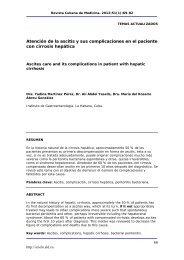 Atención de la ascitis y sus complicaciones en el paciente ... - SciELO