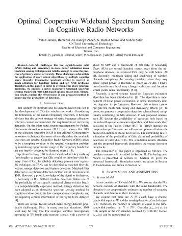 Optimal Cooperative Wideband Spectrum Sensing in Cognitive ...