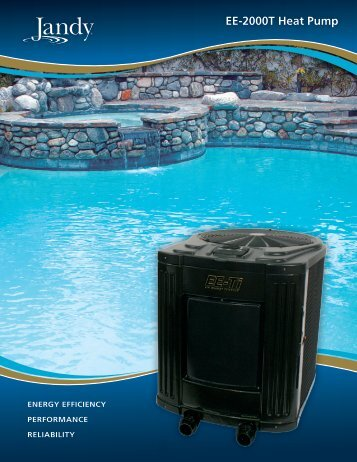 Jandy EE-2000T Brochure PDF - Poolheatpumps.com