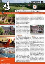 Jugendsprachreise nach Ardingly / England 2013 - Zebra-Tours