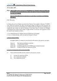 19 Novembre 2007 Objet: Appel d'offres pour ... - mediacongo.net