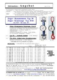 Dynamometer Typ 30 Zeiger - SCHRIEVER & SCHULZ & Co. GmbH