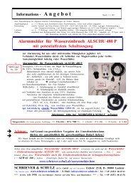 Alarmmelder für Wassereinbruch ALSCHU 480 P - SCHRIEVER ...