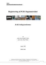 Registrering af PCB i fugematerialer KAB ... - Erhvervsstyrelsen