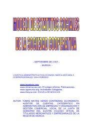 estatutos sociales de la sociedad cooperativa - Consultores Online