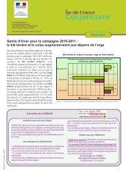 Semis d'hiver pour la campagne 2010-2011 - DRIAAF Ile-de-France