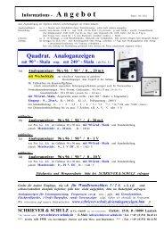 Quadrat. Analoganzeigen - SCHRIEVER & SCHULZ & Co. GmbH