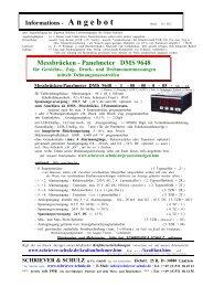 Panelmeter DMS 9648 - SCHRIEVER & SCHULZ & Co. GmbH