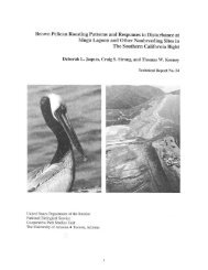 Brown Pelican Roosting Patterns and Responses to Disturbance