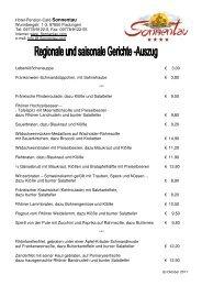 Regionale und saisonale Gerichte (PDF 68 kb) - Hotel Sonnentau