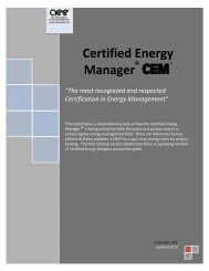 Certified Energy Manager - Association of Energy Engineers