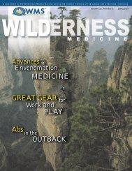 Spring, 2003 - Wilderness Medical Society