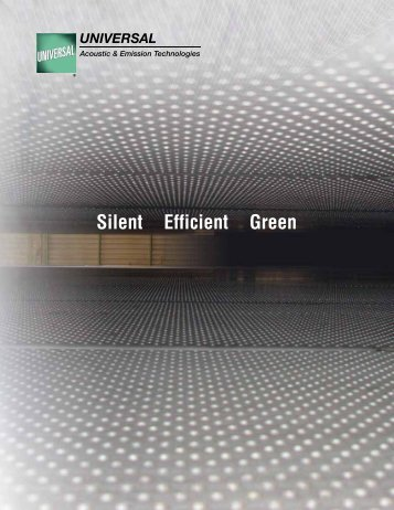 Silent Efficient Green - Universal: Acoustic Silencers