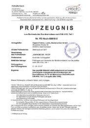 9-0028 Prüfung des Brandverhaltens (A2) - Caparol