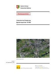 Bericht nach Art. 47 RPV - Gemeinde Wollerau