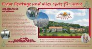 Frohe Festtage und alles Gute für 2012 - Hotel Sonnentau