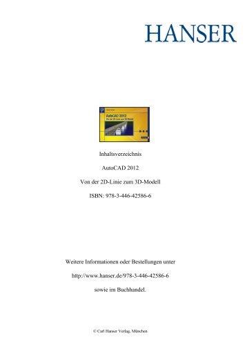 Autocad 2012 Von der 2d-Linie zum 3d-Modell ISBN - Buecher
