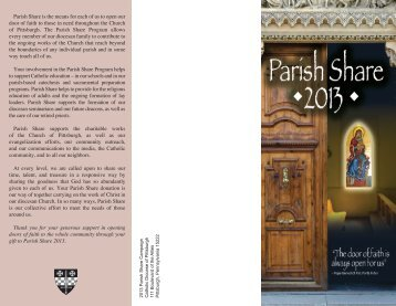 Parish Share Brochure 2013.pdf - Diocese of Pittsburgh