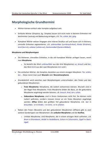 Morphologische Grundtermini