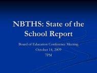 NBTHS State of the School 09-10 (pdf) - North Brunswick Twp Schools