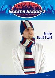 Stripe Hat & Scarf - Spotlight Promotions
