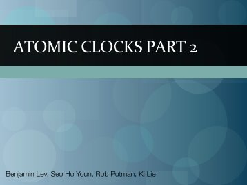 ATOMIC CLOCKS PART 2 - UIUC TWiki