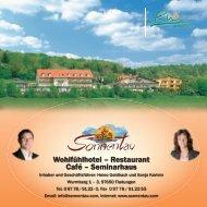 Wohlfühlhotel – Restaurant Café – Seminarhaus - Hotel Sonnentau