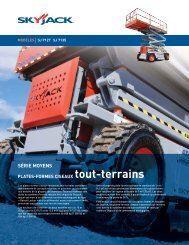 T190 COMPACT TRACK LOADER SPECIFICATIONS - Location Blais