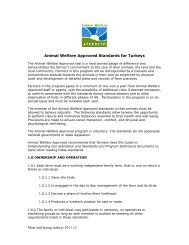 Meat and laying turkeys 2011 v2 Animal Welfare Approved ...