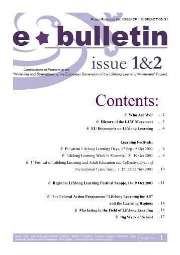 E-bulletin Issue 1-2 - Llw5.org
