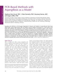 PCR-Based Methods with Aspergillosis as a Model - Working Group ...