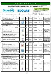 Cenník chémie výber Klimatechnik 2013