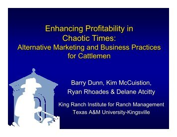 Enhancing Profitability in Chaotic Times: - National Cattlemen's Beef ...
