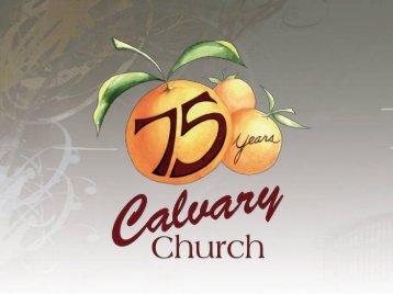 Slides - Calvary Church