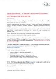 Info om elektronisk faktura - TKS AS