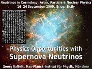 Supernova Neutrinos - MPP Theory Group